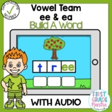 Boom Cards Vowel Team EE and EA Build A Word