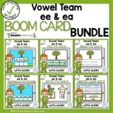 Boom Cards Vowel Team EE and EA bundle.