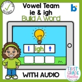 Boom Cards Vowel Team IE and IGH Build a Word