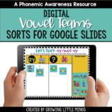 Digital Vowel Team Sorts for Google Slides   Distance Learning