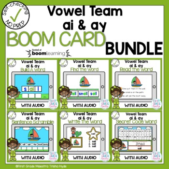 Boom Cards Vowel Team ai and ay Bundle