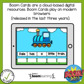 Boom Cards Vowel Team ai and ay Sentence Scrambles