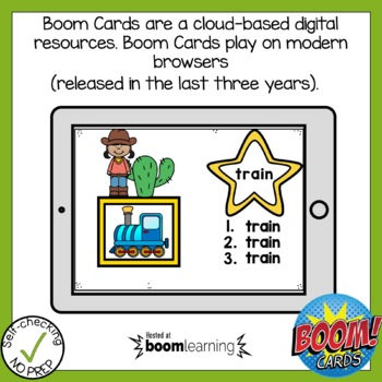 Digital Vowel Team ai and ay Write the Word Boom Cards