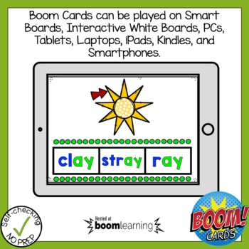 Boom Cards Vowel Team Ai and Ay Find the Word