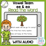 Boom Cards Vowel Team ee and ea Read the Word