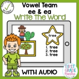 Boom Cards Vowel Team EE and EA Write the Word