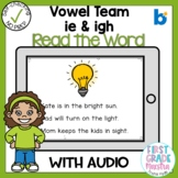 Boom Cards Vowel Team IE and IGH Read the Word
