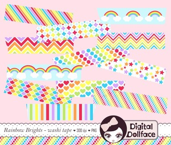Clip Art - Rainbow Washi Tape