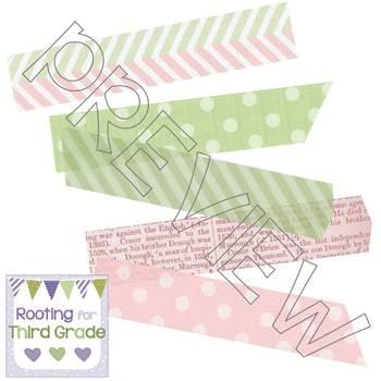 Digital Washi Tape Set of 10