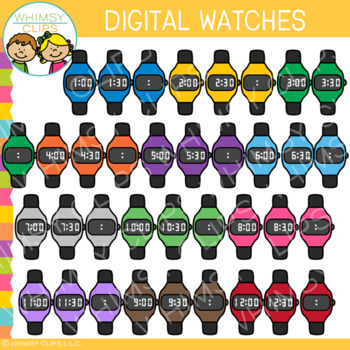 Digital Watches Clip Art