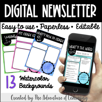 Digital Watercolor Newsletter