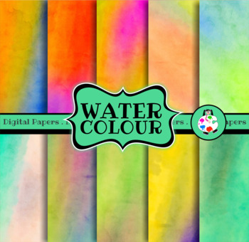 Digital Watercolor Painted Papers