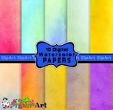 Digital Watercolor Paper Background Textures