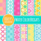 Digital Watercolor Paper - Water Color Brights - Vivid Pat