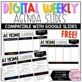 Digital Weekly Agenda Slides Editable Distance Learning