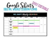Digital Weekly Lesson Plans Using GOOGLE DRIVE (Editable)