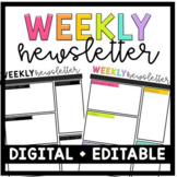 Digital Weekly/Monthly Newsletter - Editable (Google Slides)