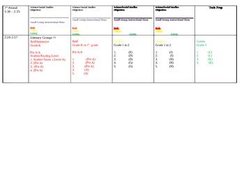 Digital Weekly Planbook