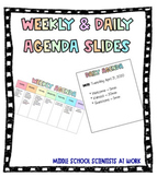 Digital Weekly and Daily Agenda Slides for Distance Learni