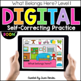 Digital Sorting Rooms in a Home Life Skills I Boom Cards I
