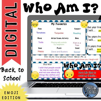 Digital Who Am I? Back to School - Emoji