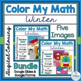 Digital Winter Math Coloring Activities Google™ Forms Slid