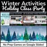 Digital Winter Activities | Google Slides Games