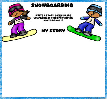 Digital Winter Olympic Sports Research Journal in Google Slides™