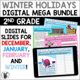 Digital Winter Holidays ELA & Math Activities December   J