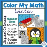 Digital Math Winter Coloring Activities Google™ Forms and
