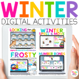 Digital Winter Snow Activities for Math & Reading & Writin