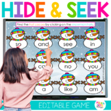 Digital Winter Snowman Letters and Sight Word Game | Distance Learning