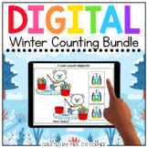 Digital Winter Themed Counting to 20 Activity Bundle | Dis