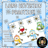 Digital Winter Themed: Long Division Practice!