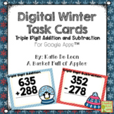 Digital Winter Triple Digit Addition and Subtraction Task