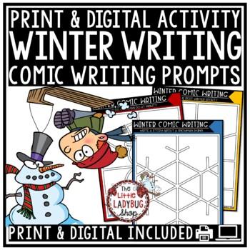 Digital Winter Writing Prompts 4th Grade Paperless -Google Classroom Activities