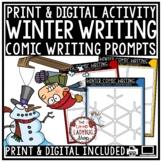 Creative Writing Comic Digital Winter Writing Prompt 4th Grade for Google Slides