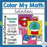 Digital Winter Math Coloring Activities Google™ Slides For