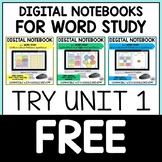 Digital Within Word Pattern Word Study Notebook for Google