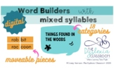 Digital Word Builders with Mixed Syllables Activity I Dist