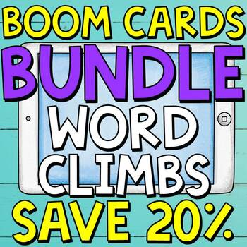 Digital Word Climbs Boom Cards BUNDLE (Digital Task Cards)