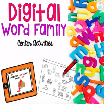 Digital Word Family Center Activities