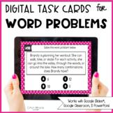 Digital Word Problem Task Cards