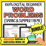 Digital Word Problems Addition and Subtraction 1-20 Spring