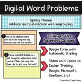 Digital Word Problems - Spring - Google Form & Slide - Add