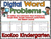Digital Word Problems for Google Classroom, Seesaw Journal