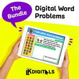 Digital Interactive Word Problems Bundle | Distance Learning