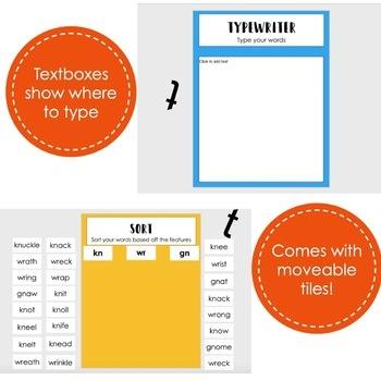 Digital Word Sort for Spr, Scr,and Str