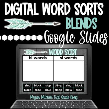 Digital Word Sorts BLENDS using Google Slides