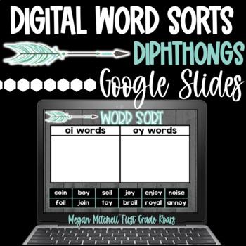 Word Sorts DIPHTHONGS Digital using Google Slides